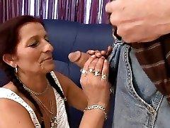Granny Krystin Hard Saggy Fuck