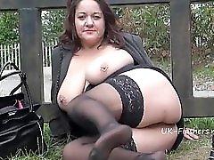 Chubby milfs outdoor masturbation and naughty exhibitionist mum