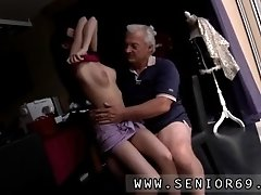 Horny senior bruce spots a nice gal sitting behind a se