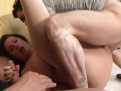 BBW Mature Italiana Exploited Double Penetration