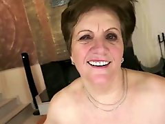 Mom with flabby body saggy tits hairy cunt & guy