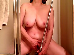 MarieRocks cumming hard in the shower