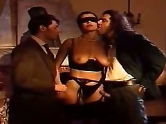 Blindfolded italian wife watched by husband