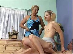 Old Couple Teach Girl