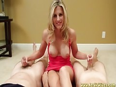 Cory Chase Double Handjob Contest
