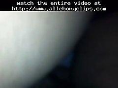Ratchet black ebony cumshots ebony swallow interracial