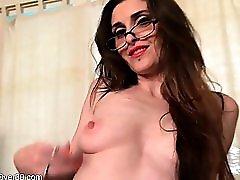 Aurora Jade milf office masturbation