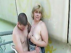 Blonde Mature Broad Outdoor Fuck