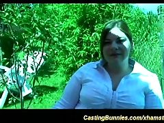 Fat babe enjoys her first anal porn casting