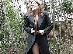 Amateur babe Jannas public masturbation and outdoor dildo