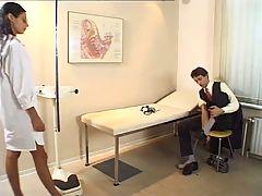 Hot teen doctor fucks the patient
