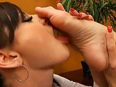 Lesbian Femdom Foot Worshipping