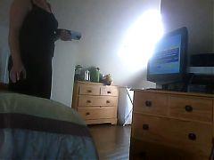 Watching porn and masturbating hidden camera