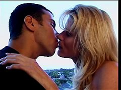 Young stud and mature blond