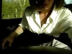 Sensual mature wife dogging in the car
