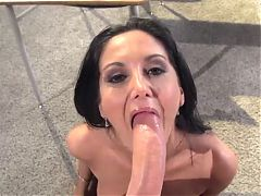Top milf Ava Adams POV suck & facial cumshot