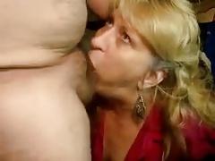 Mature wife deep blowjob