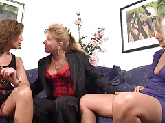 German busty matures having fun together